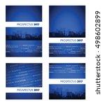 prospectus 2017 blue group | Shutterstock .eps vector #498602899