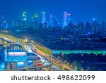 aerial view of shanghai... | Shutterstock . vector #498622099