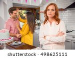 mother disapproves  envy  and... | Shutterstock . vector #498625111
