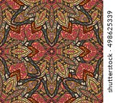 ornate floral seamless texture  ... | Shutterstock .eps vector #498625339