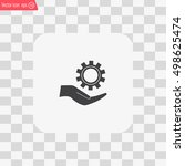 configure web icon. vector...   Shutterstock .eps vector #498625474