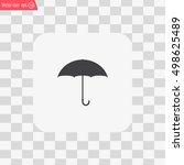 umbrella icon  vector... | Shutterstock .eps vector #498625489