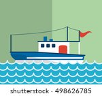 nautical sea life related icons ... | Shutterstock .eps vector #498626785