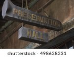 Preservation Hall Signage In...