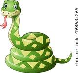 cute green snake cartoon     Shutterstock .eps vector #498635269