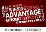 advantage benefits competitive... | Shutterstock . vector #498642874