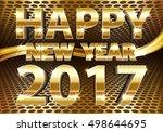 happy new year 2017 gold luxury ...
