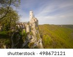 the romantic castle of... | Shutterstock . vector #498672121