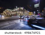 abstract blur city night... | Shutterstock . vector #498676921