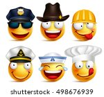 smiley face vector set of... | Shutterstock .eps vector #498676939