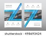 brochure layout template flyer...   Shutterstock .eps vector #498693424