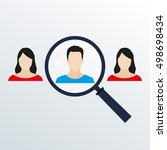 customer target and human... | Shutterstock . vector #498698434