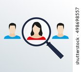 customer target and human... | Shutterstock . vector #498698557
