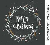 merry christmas. new year... | Shutterstock .eps vector #498700027