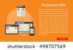 responsive web conceptual banner | Shutterstock .eps vector #498707569