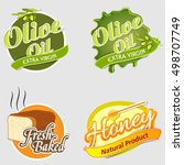 set of four stickers design of... | Shutterstock .eps vector #498707749