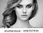 portrait of beautiful sensual... | Shutterstock . vector #498707959