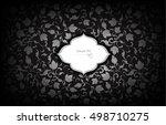 thai art pattern on black... | Shutterstock .eps vector #498710275