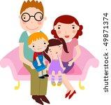 happy faimly | Shutterstock .eps vector #49871374