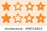 many stars for site and game... | Shutterstock .eps vector #498716815
