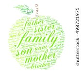 family words cloud in shape of... | Shutterstock .eps vector #498721975