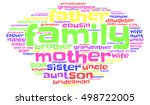 family words cloud  comic font  ... | Shutterstock .eps vector #498722005