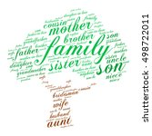 family words cloud in shape of... | Shutterstock .eps vector #498722011