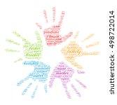 family words cloud in shape of... | Shutterstock .eps vector #498722014