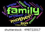 stylish family words cloud on... | Shutterstock .eps vector #498722017