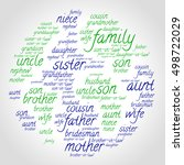 family words cloud in shape of... | Shutterstock .eps vector #498722029