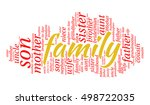 family kinship words cloud ... | Shutterstock .eps vector #498722035