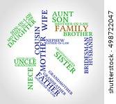 smart family words cloud... | Shutterstock .eps vector #498722047