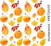 autumn background  seamless... | Shutterstock . vector #498724105