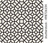 vector seamless black and white ... | Shutterstock .eps vector #498726154