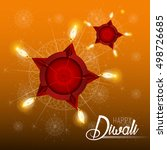happy diwali illustration ... | Shutterstock .eps vector #498726685