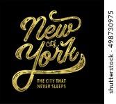 new york. the city that never... | Shutterstock .eps vector #498730975