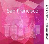 san francisco for banner ... | Shutterstock .eps vector #498735475