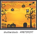 halloween theme with trees ...