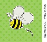 cartoon bee isolated vector....   Shutterstock .eps vector #498741505