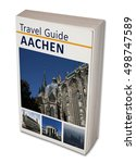Small photo of Imaginary travel book Aachen. Isolated on white.