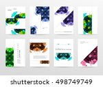 geometric background template... | Shutterstock .eps vector #498749749