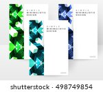 geometric background template... | Shutterstock .eps vector #498749854