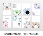 geometric background template... | Shutterstock .eps vector #498750031