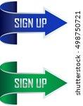 sign up arrow vector... | Shutterstock .eps vector #498750721