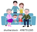 family of illustrations sit on... | Shutterstock .eps vector #498751285