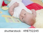 cute newborn baby portrait...   Shutterstock . vector #498752245