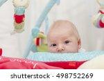 cute newborn baby portrait...   Shutterstock . vector #498752269
