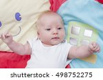 cute newborn baby portrait...   Shutterstock . vector #498752275