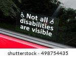 prejudice  not all disabilities ... | Shutterstock . vector #498754435