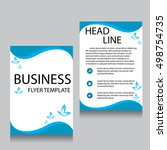vector brochure flyer design... | Shutterstock .eps vector #498754735